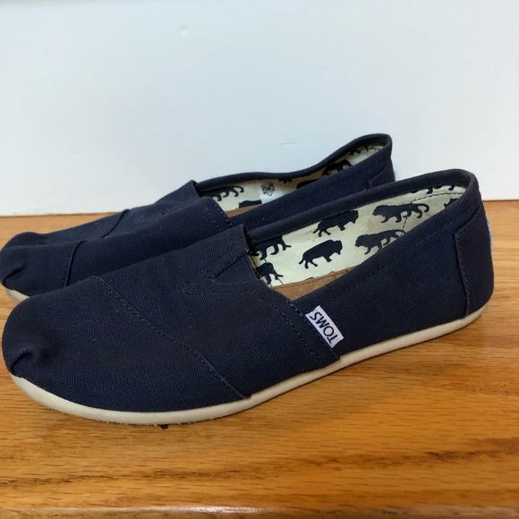 Toms Shoes | Navy Canvas Womens